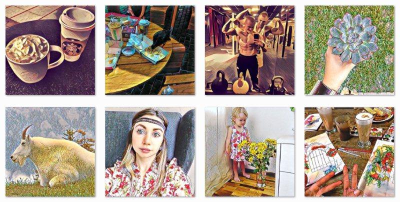 Фотографии из российского приложения Prisma