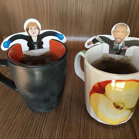 """""""Чай с политиками"""" Меркель и Обама"""
