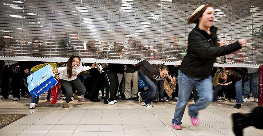 Черная пятница открытие супермаркета