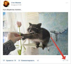 Счетчики просмотров публикаций ВКонтакте